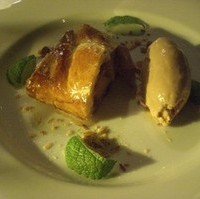 りんごのパイとキャラメルアイス